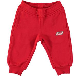 Pantalone in morbida felpa stretch dodipettobasic ROSSO-2253