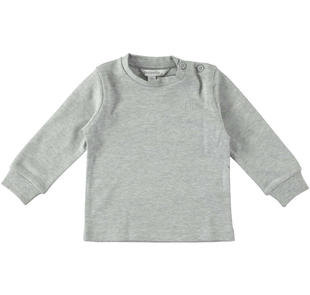 Maglietta girocollo in interlock di cotone dodipettobasic GRIGIO MELANGE-8992