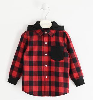 Camicia per bambino fantasia check  ROSSO-2253