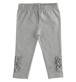 Leggings in jersey stretch con fiocchi  GRIGIO MELANGE-8867