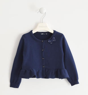 Grazioso cardigan in tricot 100% cotone  NAVY-3854