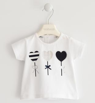 Romantica t-shirt con palloncini a cuore