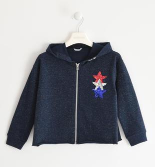 Felpa con stelle di paillettes  NAVY-3885