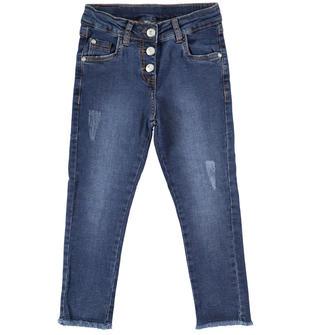 Pantalone in denim stretch slim fit  STONE WASHED-7450