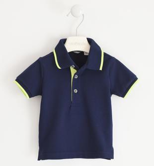 Polo in cotone tinta unita  NAVY-3854