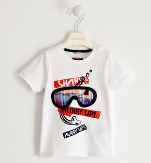 T-shirt 100% cotone con maschera sub