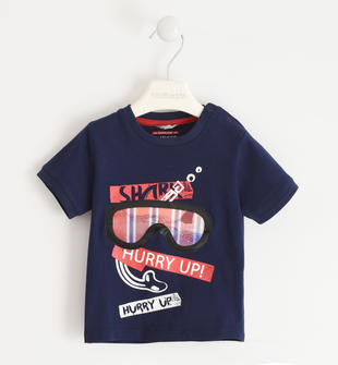 T-shirt 100% cotone con maschera sub  NAVY-3854