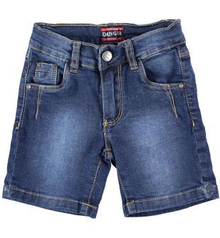 Pantalone corto in denim  STONE WASHED-7450