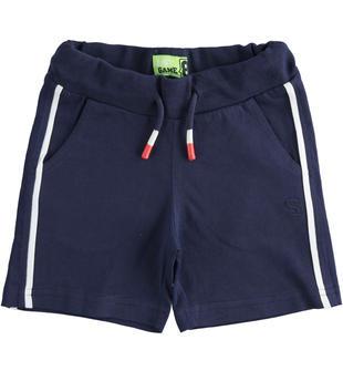 Pratico pantalone corto in jersey  NAVY-3854