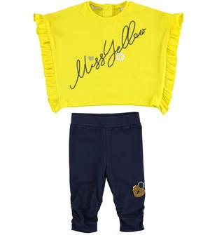Completo t-shirt Miss Yellow e leggings  GIALLO-1434