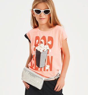 T-shirt Pop Corn  CORALLO FLUO-5824