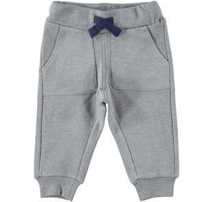 Caldissimo pantalone in felpa tinta unita  GRIGIO MELANGE-8993