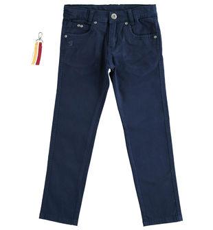 Pantalone in twill con portachiavi  NAVY-3854