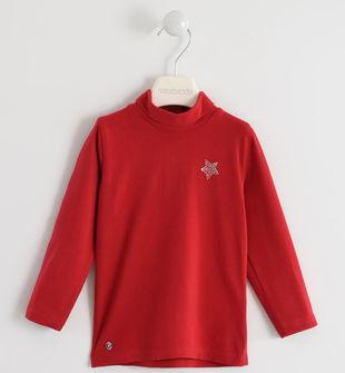 Lupetto con stella di strass  ROSSO-2253