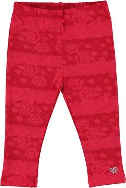 Leggings in jersey stretch con stampa floreale  CORALLO-CORALLO - 6B79