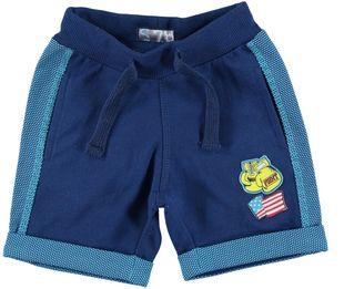 Pantalone corto in felpa leggera 100% cotone  BLU INDIGO - 3647