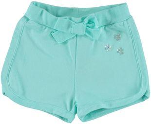 Shorts in felpa 100% cotone con bordature e fiocco  VERDE CHIARO - 4634