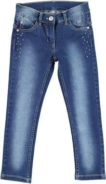 Jeans slim fit per bambina effetto delavato  STONE WASHED - 7450