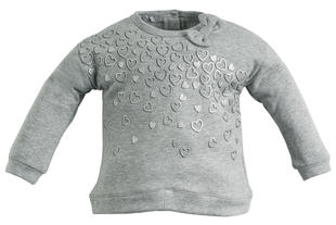 Maglietta glitter con fiocco per bambina