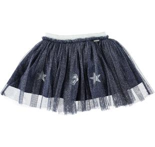Gonna in tulle lurex per bambina  NAVY-3854