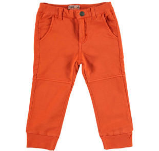Pantalone jogger in felpa leggera 100% cotone  ARANCIO-1828