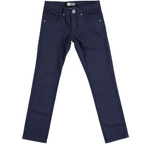 Pantalone slim fit in twill stretch di cotone  NAVY-3854