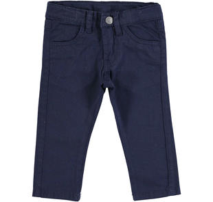 Pantalone slim fit realizzato in twill stretch di cotone  NAVY-3854