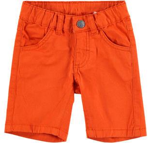 Pantalone corto in twill stretch di cotone  ARANCIO-1828
