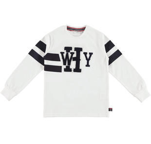 Maglietta 100% cotone con stampa ed etichette  BIANCO-0113