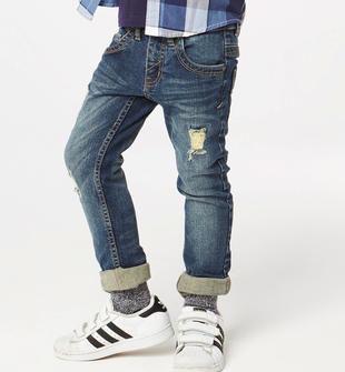 Jeans cinque tasche slim fit effetto delavato  BLU-7750