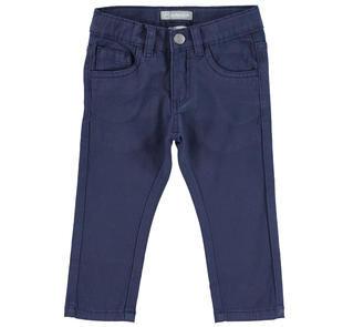 Comodo pantalone slim fit in twill stretch di cotone  NAVY-3854