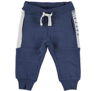 Pantalone in felpa con inserti a contrasto  NAVY-3854
