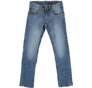 Jeans slim fit effetto delavato per bambino  STONE WASHED-7450
