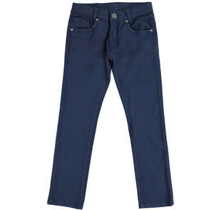 Pantalone slim fit in twill stretch di cotone  NAVY-3854