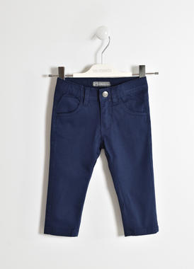 Pantalone lungo in twill stretch  NAVY-3854