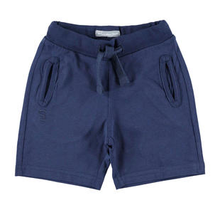 Pantalone corto in jersey con logo Sarabanda  NAVY-3854