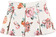Gonna color panna con stampa all over di rose rosse  sarabanda ROSSO - 2244 back