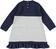 Abito in tricot con cuori e filo lurex sarabanda NAVY - 3854 back
