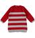 Vestito in tricot a righe sarabanda ROSSO - 2253