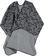 Elegante e molto comoda questa mantella per bambina sarabanda GRIGIO SCURO MELANGE-8963