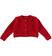 Giacca in tricot effetto angora per bambina sarabanda ROSSO - 2253
