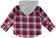 Camicia bambino in fantasia a quadri in twill tinto filo sarabanda ROSSO - 2259 back