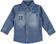 Camicia bambino a manica lunga in cotone effetto denim sarabanda STONE WASHED - 7450