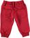 Pantalone bambino in cotone garzato con fettuccia coulisse sarabanda ROSSO - 2259 back