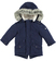Parka per bambino foderato in eco pelliccia sarabanda NAVY - 3854