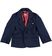 Elegante giacca in punto milano sarabanda NAVY - 3854