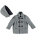 Giaccone modello montgomery per bambino sarabanda GRIGIO MELANGE - 8993 back