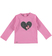 T-shirt a manica lunga con cuore ricamato sarabanda CICLAMINO - 2812