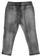 Pantalone bambina in cotone con pieghe impunturate sarabanda NERO - 7990 back
