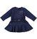 Vestitino bambina in punto milano taglio vita bassa sarabanda NAVY - 3854